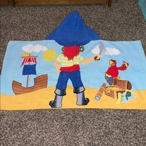 Hooded pirate beach towel